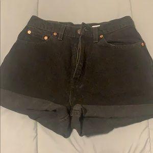 Custom High Waisted Levi Shorts Dark